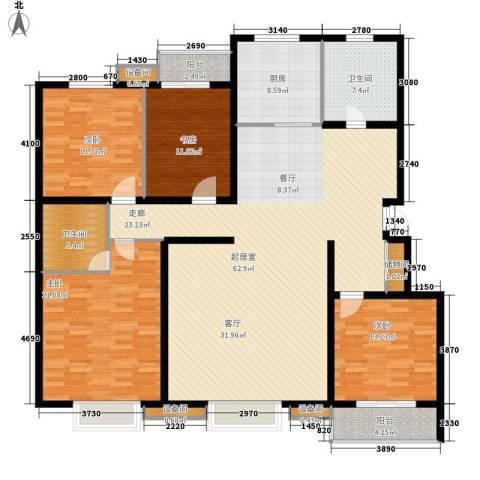鑫和花园4室0厅2卫1厨172.00㎡户型图