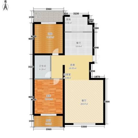 鑫和花园2室0厅1卫1厨125.00㎡户型图