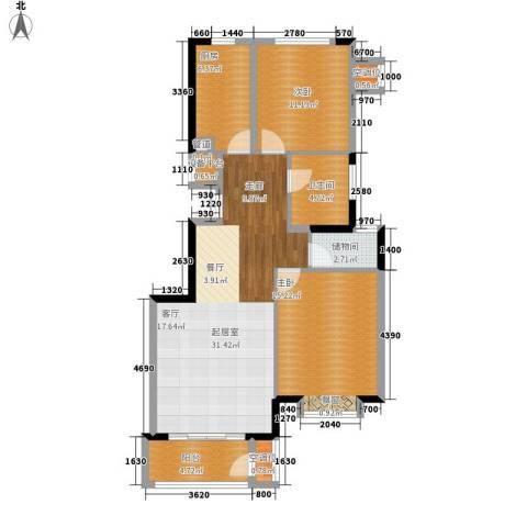 建投十号院2室0厅1卫1厨91.00㎡户型图