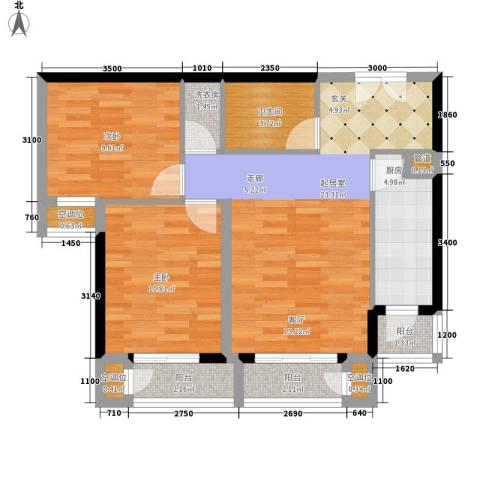 建投十号院2室0厅1卫1厨93.00㎡户型图