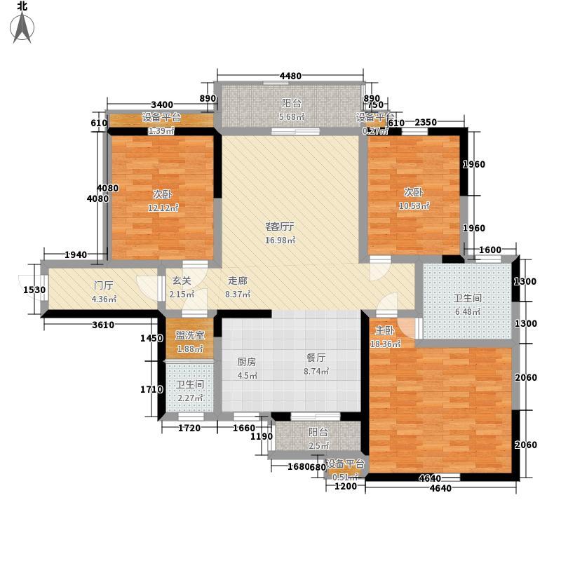 湖湘林语130.58㎡二期32号楼标准层4号户型