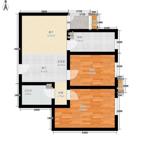 太乙嘉园2室0厅1卫1厨77.00㎡户型图