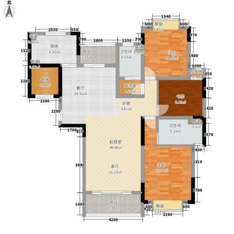 富兴嘉城3室0厅2卫1厨135.00㎡户型图