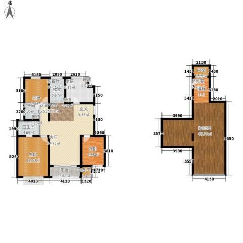 吉宝季景兰庭3室1厅2卫1厨214.00㎡户型图