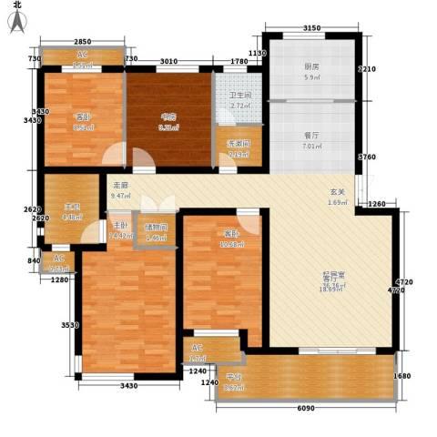 伍子胥弄4室0厅1卫1厨125.00㎡户型图