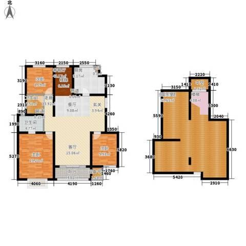 吉宝季景兰庭3室1厅2卫1厨219.00㎡户型图