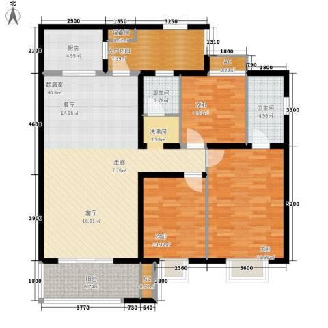 银城壹号3室0厅2卫1厨151.00㎡户型图