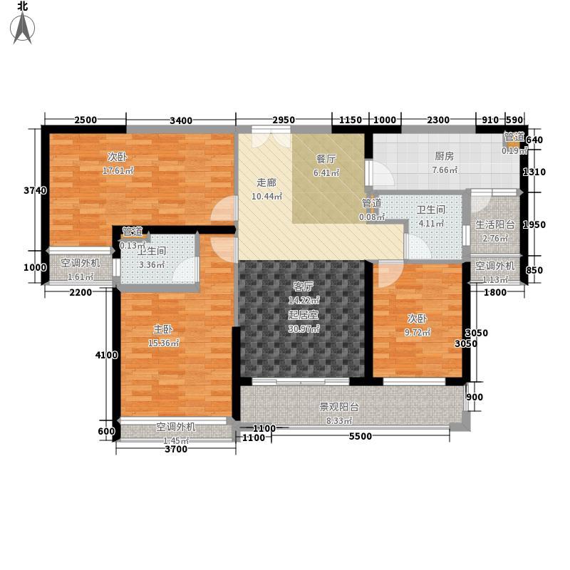 星城翠珑湾119.00㎡9栋2单元02户型3室2厅
