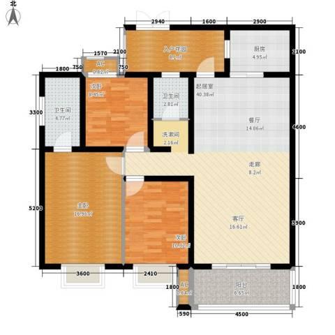 银城壹号3室0厅2卫1厨150.00㎡户型图