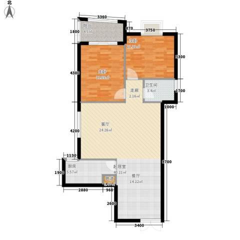 银城壹号2室0厅1卫1厨109.00㎡户型图