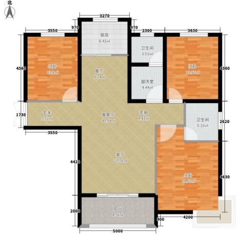 锦绣江南3室1厅2卫1厨170.00㎡户型图