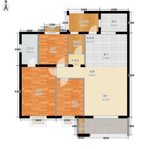 银城壹号3室0厅2卫1厨145.00㎡户型图