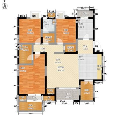 万科水晶城3室0厅1卫1厨142.00㎡户型图