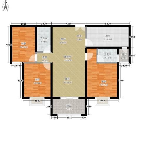 锦绣江南3室1厅2卫1厨159.00㎡户型图