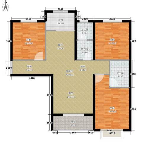 锦绣江南3室1厅2卫1厨161.00㎡户型图
