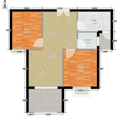 锦绣江南2室1厅1卫1厨105.00㎡户型图