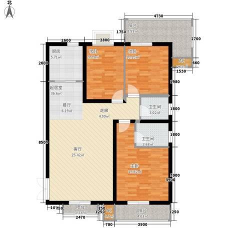 银城壹号3室0厅2卫1厨142.00㎡户型图