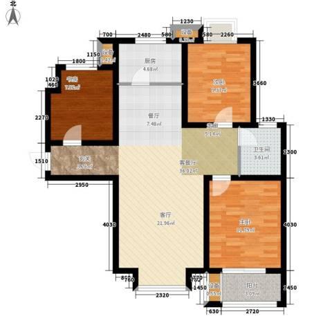 北斗星城御府3室1厅1卫1厨112.00㎡户型图