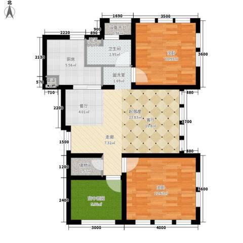 东市尚品2室0厅1卫1厨94.00㎡户型图