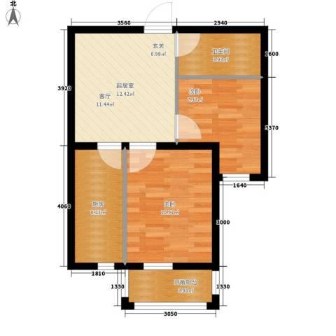 金色玺园2室0厅1卫1厨64.00㎡户型图