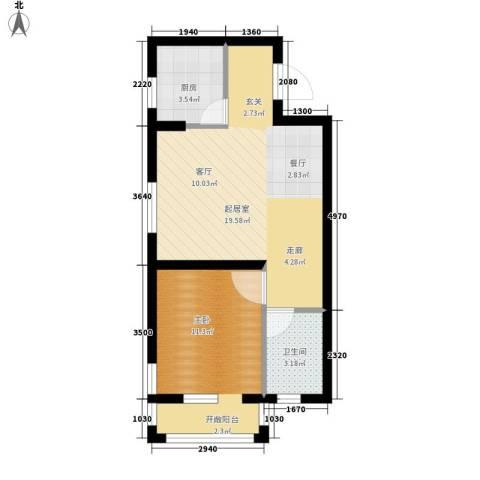 金色玺园1室0厅1卫1厨54.00㎡户型图