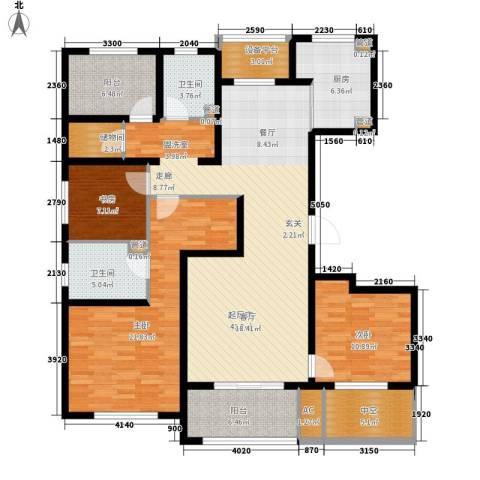 朗诗绿色街区3室0厅2卫1厨141.00㎡户型图
