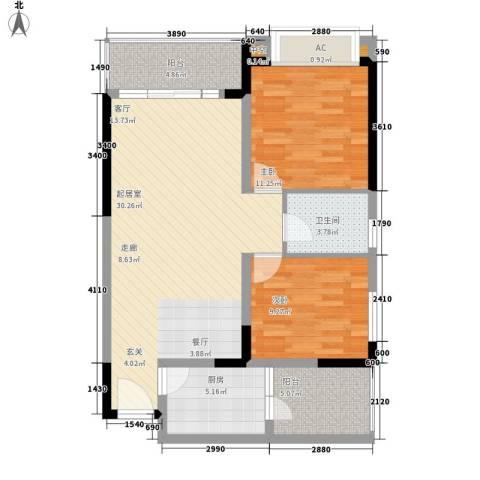 贝迪新城2室0厅1卫1厨102.00㎡户型图