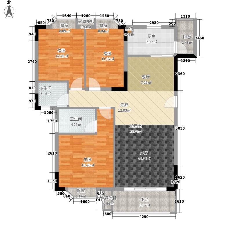 保利紫薇花园108.78㎡三梯02单位面积10878m户型