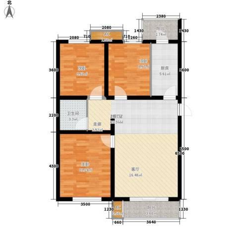 大业时代广场唐山义乌国际商贸城3室0厅1卫1厨111.00㎡户型图