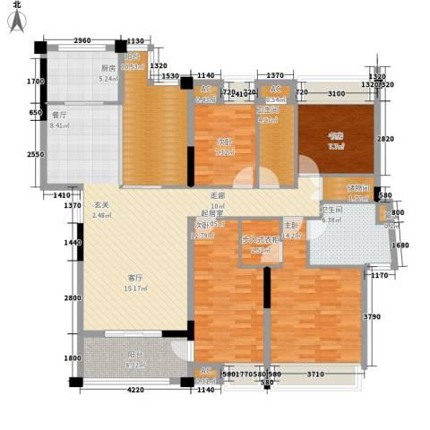 贝迪新城4室0厅2卫1厨133.00㎡户型图