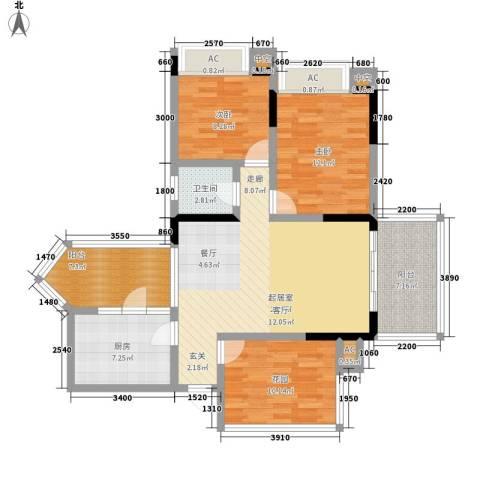 贝迪新城2室0厅1卫1厨125.00㎡户型图