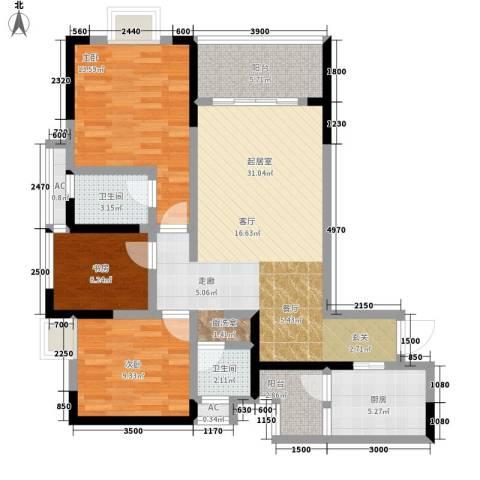 贵博江上明珠3室0厅2卫1厨120.00㎡户型图