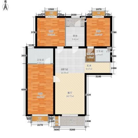 文苑凤凰城3室0厅2卫1厨146.00㎡户型图