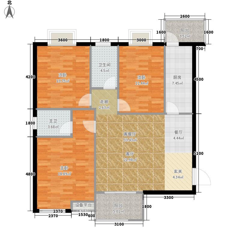 江林新城142.08㎡三期2号楼B1面积14208m户型