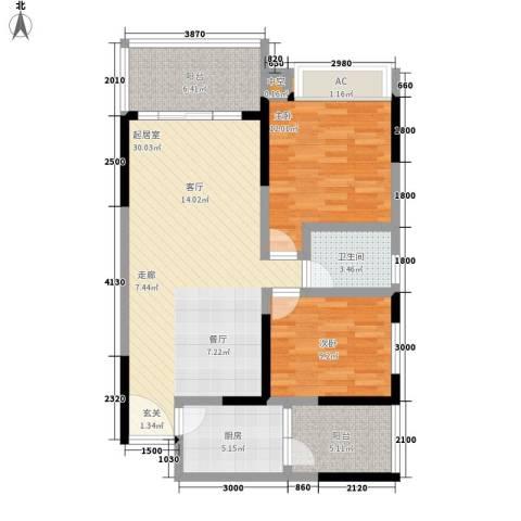 贝迪新城2室0厅1卫1厨106.00㎡户型图