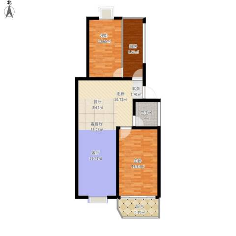 金容花园2室1厅1卫1厨125.00㎡户型图