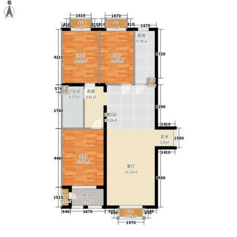 文苑凤凰城3室0厅1卫1厨145.00㎡户型图