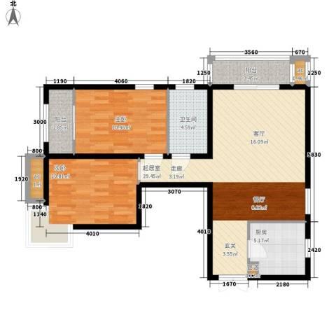 文苑凤凰城2室0厅1卫1厨101.00㎡户型图