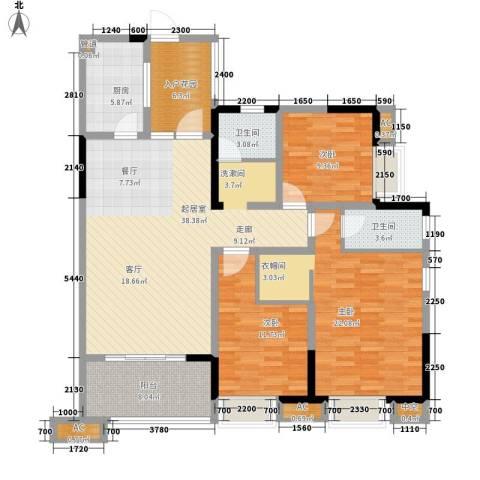 希望城3室0厅2卫1厨133.00㎡户型图