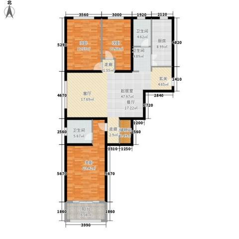 新和园3室0厅2卫1厨145.00㎡户型图