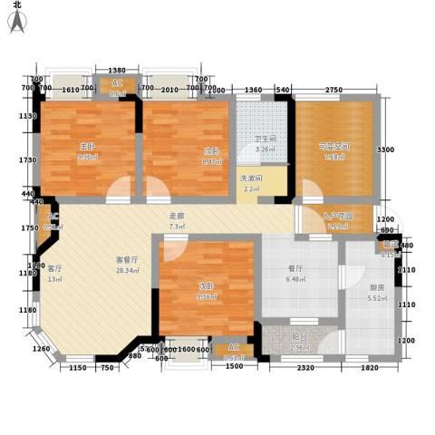 希望城3室1厅1卫1厨94.00㎡户型图
