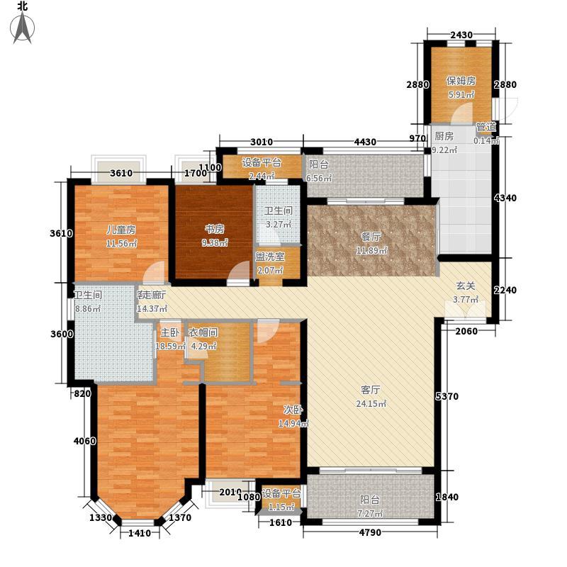 建发中央湾区215.00㎡二期7#楼01、02单元D户型4室2厅