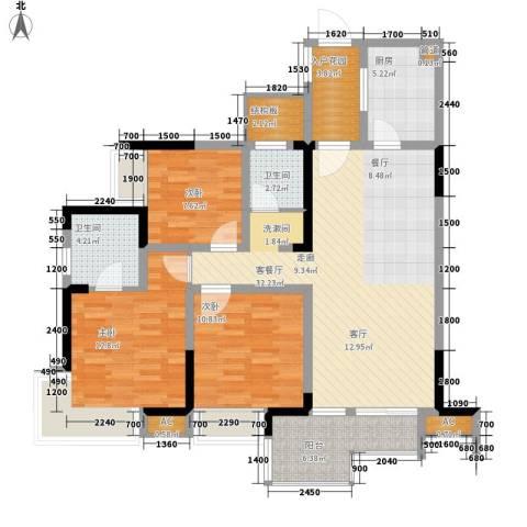 希望城3室1厅2卫1厨112.00㎡户型图
