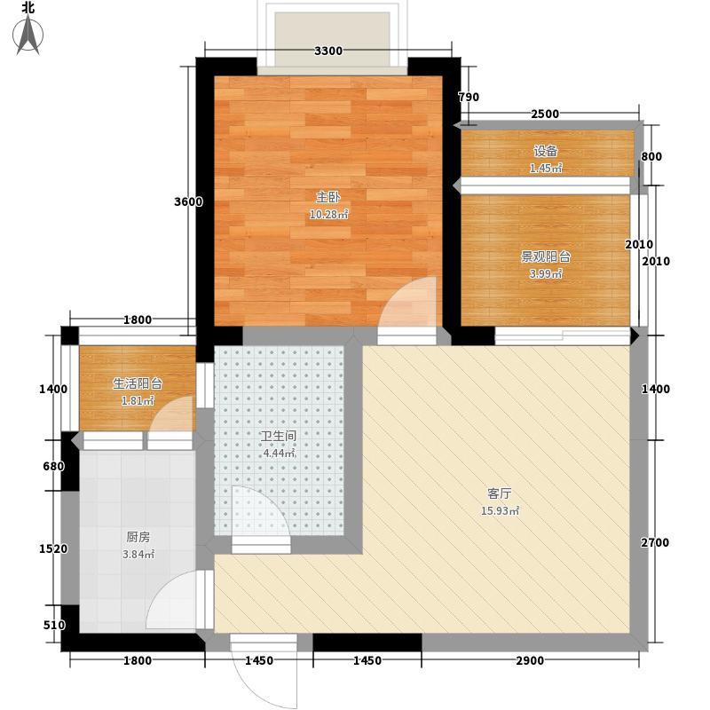 楠香山52.99㎡三期7号楼标准层E面积5299m户型