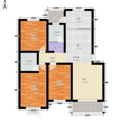 邦兴佳苑3室0厅2卫1厨116.00㎡户型图