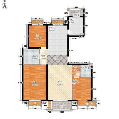 文苑凤凰城3室0厅2卫1厨165.00㎡户型图