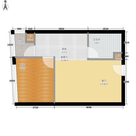 美力・com1室1厅1卫0厨50.00㎡户型图