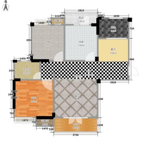 圣特立国际花园3室0厅1卫1厨99.00㎡户型图