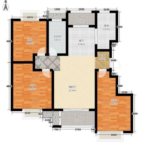 开源古楚名苑3室1厅1卫1厨154.00㎡户型图