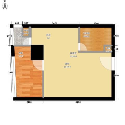 美力・com1室1厅1卫0厨51.00㎡户型图